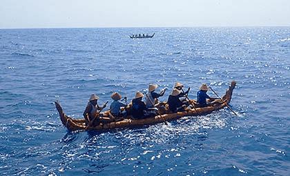 3万年前の航海 テスト航海の様子
