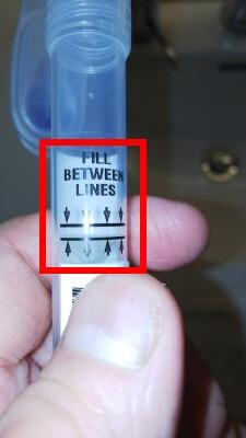 GeneLife Premium(ジーンライフ プレミアム)の唾液採取量のメモリについて