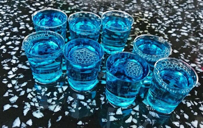 一気飲み用・ショットグラスがたくさんある。