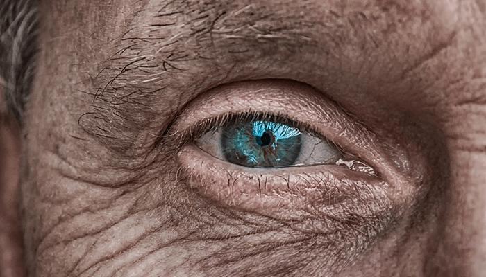 青い目の老人