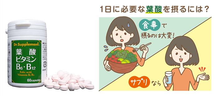 葉酸ビタミンサプリメント
