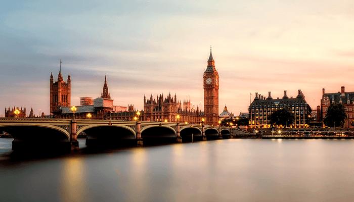 ロンドンの夕暮れ